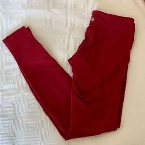 Dark red wunder under legging